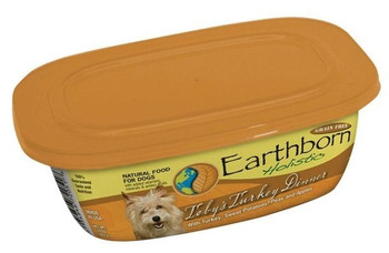 Earthborn Holistic Toby's Turkey Dinner Gourmet Dinners Grain Free Moist Dog Food Tubs-8-oz, Case Of 8-{L-tx}