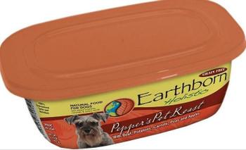 Earthborn Holistic Pepper's Pot Roast Gourmet Dinners Grain Free Moist Dog Food Tubs-8-oz, Case Of 8-{L-tx}