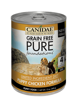 Made For Growing Puppies, Canidae Grain Free Pure Foundations Canned Puppy Formula Dog Food Is Packed With High Quality And Holistic Nutrition! With Very Minimal Ingredients, This Recipe