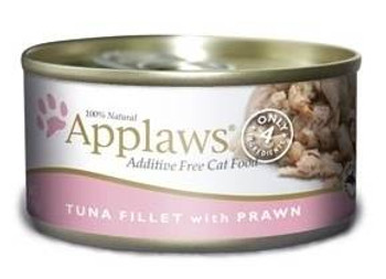 Applaws Tuna Fillet With Prawn Contains Nothing More Than The Four Ingredients Listed. Applaws Is A Completely Natural Complementary Pet Food For Adult Cats. We Guarantee That Our Fish Is Sea Caught Using Dolphin Friendly Methods.