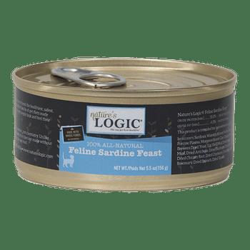 Nature's Logic Grain Free Feline Sardine Feast Canned Cat Food-5.5-oz, Case Of 24-{L-tx}