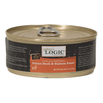 Nature's Logic Feline Grain Free Duck And Salmon Feast Canned Cat Food-5.5-oz, Case Of 24-{L-tx}
