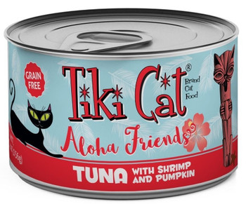 Tiki Cat Aloha Friends Grain Free Tuna With Shrimp And Pumpkin Canned Cat Food-3-oz, Case Of 12-{L-1x}