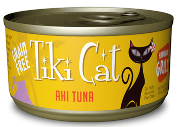 Ahi Tuna tiki Cat Gourmet Whole Food Brand Cat Food Hawaiian Grill Is Shredded Ahi Tuna Prepared In Its Own Juices For A Grain Free, Gravy Free, Zero Carb Meal. Complete And Balanced Diet For All Life Stages