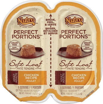 With Nutro › Perfect Portions › Cat Food You Wont Have Smelly Wet Cat Food Leftovers In Your Refrigerator Ever Again. Each Perfect Portions › Package Splits In Half So You Can Serve Half Now, And Store Half For Later, Without The Mess Or Leftovers In