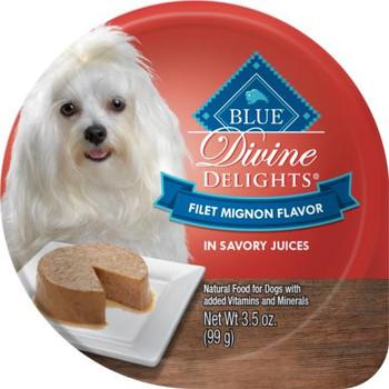 Blue Buffalo Divine Delights Small Breed Filet Mignon Pate Dog Food Cup-3.5-oz, Case Of 12-{L+1}