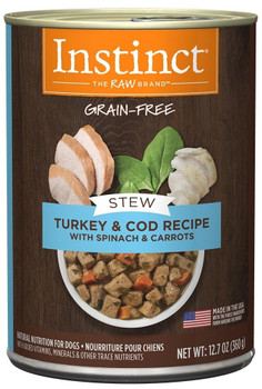Nature's Variety Instinct Grain Free Stews Turkey And Cod With Spinach And Carrots Recipe Natural Canned Dog Food-12.7-oz, Case Of 6-{L-1}