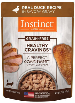 Nature's Variety Instinct Healthy Cravings Grain Free Real Duck Recipe Natural Wet Cat Food Topper-3-oz, Case Of 24-{L-1}