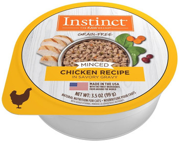 High Animal Protein, Grain-free Recipes Guided By Our Belief In Raw, Instinct Grain-free Minced Chicken Recipe Unlocks Your Cats Potential To Thrive.	