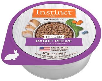 Nature's Variety Instinct Minced Cups Cat Rabbit 12/3.5 Oz {L-1}699837
