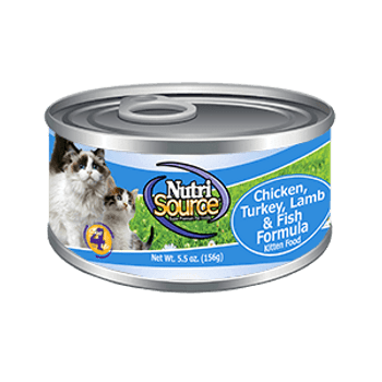 Offering A High Quality, Holistic Recipe, Nutrisource Kitten Chicken, Turkey, Lamb And Fish Canned Cat Food Is An Easy To Digest Pate Your Growing Kitten Is Sure To Love! This Recipe Also Has Added Prebiotics And Highly Digestible Minerals For Immune And