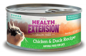 The Health Extension Grain-free Chicken & Duck Recipe Canned Cat Food Nourishes Your Feline With Every Single Bite. Made To Provide Years Of Soft Purrs And Gentle Nuzzles, This Holistic Recipe Is Specially Formulated To Promote A Shiny Coat, Resilient Imm