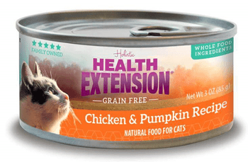 The Health Extension Grain-free Chicken & Pumpkin Recipe Canned Cat Food Nourishes Your Feline With Every Single Bite. Made To Provide Years Of Soft Purrs And Gentle Nuzzles, This Holistic Recipe Is Specially Formulated To Promote A Shiny Coat, Resilient