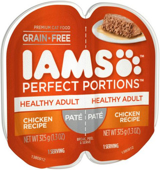 Iams Perfect Portions Adult Pate - Chicken 24/2.6Z