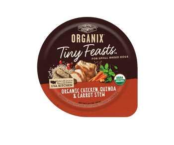 Usda Certified Organic, Cooked In An Organically Certified Usa Kitchen, No Corn, Wheat Or Soy, For Small Breed Dogs