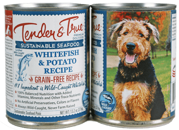 Tender & True Grain Free Ocean Whitefish And Potato Recipe Canned Dog Food-13.2-oz, Case Of 12-{L+1}