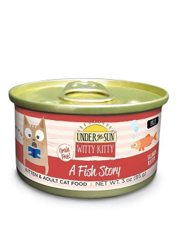 Canidae Under The Sun Witty Kitty: A Fish Story Grain Free Salmon Pate Canned Cat Food-3-oz, Case Of 18-{L-1}