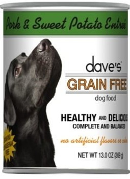 Dave's Grain Free Roasted Pork Dinner Canned Dog Food-13-oz, Case Of 12-{L-tx}