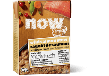 Now Fresh Grain Free Wild Salmon Stew With Bone Broth Is Made With 100% Fresh Salmon And 100% Fresh Omega 3 & 6 Oils From Coconuts And Canola. Now Fresh › Also Features Zero Grains, Gluten, Wheat, Beef, Corn Or Soy. Zero Rendered Meats, By-products Or Art