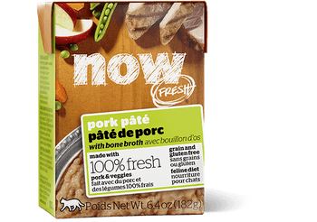 Petcurean Now! Fresh Grain Free Pork Pate With Bone Broth Wet Cat Food-6.4-oz, Case Of 24-{L+1}