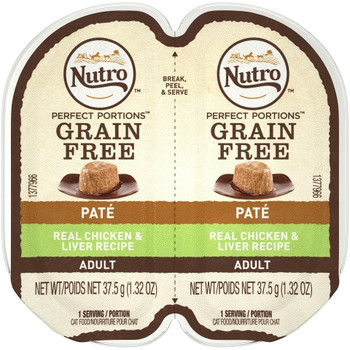 Our Nutro › Perfect Portions › Chicken & Liver Cat Food Recipe Means No More Leftovers In Your Refrigerator. The Packaging Splits In Half, Meaning You Can Serve Your Cat Half Now, And Save The Rest For Later, With No Messy Leftovers. Real Chicken Is The F