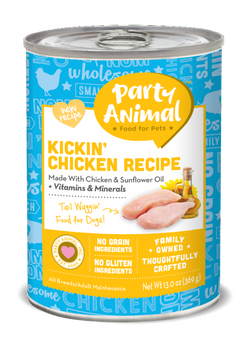 Party Animal Grain Free Kickin Chicken Recipe Canned Dog Food-13-oz, Case Of 12-{L-tx}