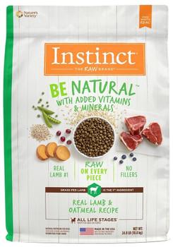 Nature's Variety Instinct Be Natural Lamb & Oatmeal Recipe Dry Dog Food-4.5-lb-{L+1}