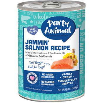 PARTY ANIMAL DOG JAMMIN SALMON 13OZ