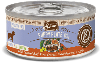 Merrick Grain Free Puppy Plate Beef Recipe Canned Puppy Food-12.7-oz, Case Of 12-{L-tx}