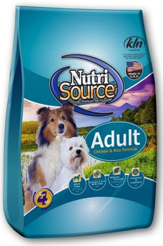 Tuffy Nutrisource Adult Chicken And Rice Dry Dog Food-5-lb-{L+1x}