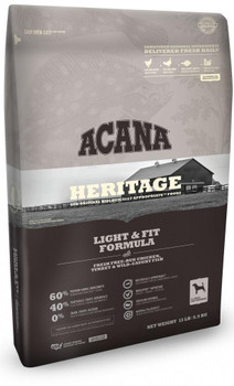 Acana Heritage Light and Fit Formula Grain Free Dry Dog Food-25-lb-{L+x}