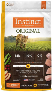 High Animal Protein, Grain-free Recipe Guided By Our Belief In Raw, Instinct Original Grain-free Recipe With Real Chicken Unlocks Your Cats Potential To Thrive.-cage-free Chicken Is The First Ingredient  Packed With A