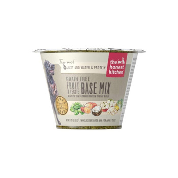 <p>Type A Folks, Listen Up! Introducing The Ultimate Life Hack For Feeding Your Dog. Fruit &amp; Veggie Base Mix Is An Antioxidant-rich Selection Of Fruits, Veggies, And Nuts That Guarantees A Homemade Meal For Your Dog, Without The Prep Work. This Gluten-fr</p>