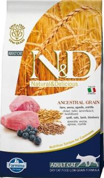 Farmina N&d Natural And Delicious Low Grain Adult Lamb & Blueberry Dry Cat Food-3.3-lb-{L-x}