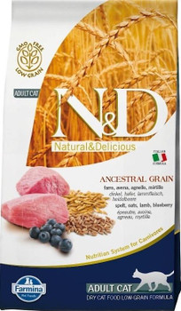 Your Cat Deserves The Best Scientifically Proven Food To Maintain A Healthy Weight. Farmina N&d Natural And Delicious Lamb & Blueberry Ancestral Low Grain Formula Dry Cat Food Does Not Contain Any Gmos Or Glutens Of Any Kind And Only Contain Natural Spelt