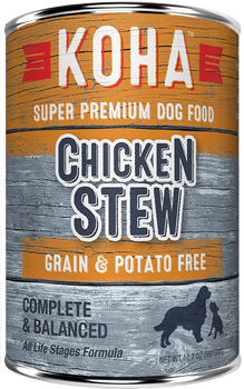 Koha Stew Recipes Are Ideal For Rotational Feeding. Our Chicken Stew Dog Food Contains Premium Usa Chicken. All Stew Recipes Include New Zealand Green Mussel To Support Joint Health And Pumpkin For Healthy Digestion. First Time Customer Order A Wet Dog F