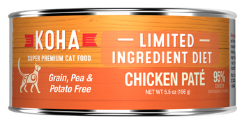 For All Cats, Especially Those With Stomach Or Skin Sensitivities.koha Limited Ingredient Pates Are Ideal For Elimination Diets And Rotational Feeding. Our Chicken Wet Cat Food Includes Premium Chicken From The Usa. All Limited Ingredi