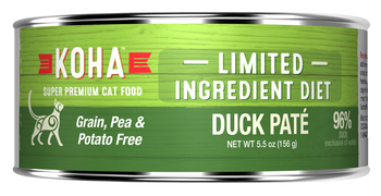 Duck Cat Food  For All Cats, Especially Those With Stomach Or Skin Sensitivities.koha Limited Ingredient Pates Are Ideal For Elimination Diets And Rotational Feeding. Our Duck P-›t Cat Food Contains Premium Duck. All Limited Ing