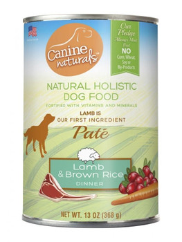 Canine Naturals Lamb And Brown Rice Dinner For Dogs Uses Only Natural Ingredients. Our Recipe Starts With Lamb As Our First Ingredient To Help Dogs Maintain Their Ideal Weight And Lean Muscle Mass While Providing The Great Fresh Meat Taste They Love. In A