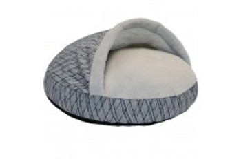 Give your pet a soft and cozy bed with a burrow for hours of snuggling.  Super soft sleep are  with a gusset for extra comfort and support.  Removable cover is machine washable.