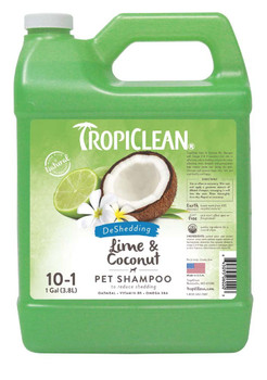 TropiClean Lime & Coconut Shed Control Shampoo for Pets, 1 gal