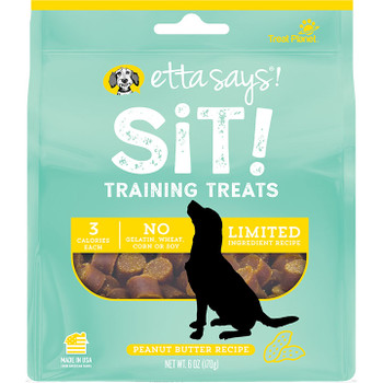ETTA SAYS DOG SIT TRAINING PEANUT BUTTER 6OZ