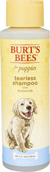 Burt #;s Bees for dogs 2 in 1 Tearless Puppy Shampoo and Conditioner is made with some of natures finest ingredients for your peace of mind and a happy pup. Tap into natures power with this gentle cleanser made with Buttermilk to soothe and soften skin