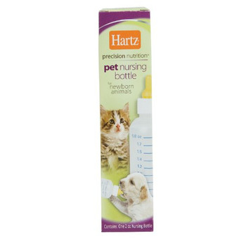 This bottle is designed for feeding small, newborn animals such as kittens, puppies and hamsters. The bottle markings help to gauge the appropriate amount of formula for each feeding. The tiny nipple is also designed to fit tiny animals' mouths. Manufactured in China.