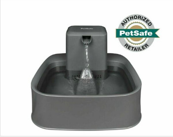 The PetSafe Drinkwell 2 Gallon Pet Fountain is designed with you and your pet in mind. This automatic water bowl features a free-falling water stream with adjustable flow control. Choose from nearly silent circulation on the lowest setting to a tranquil stream on the highest. The flow control allows you to tailor the water flow to your pet?s needs. The large capacity bowl is perfect for big dogs and multiple pet households and the square bowl design is large enough for several pets to drink out of at the same time with minimal splashing. When it?s time to refill, simply use a pitcher to fill the bowl to the desired level. The 2 Gallon Fountain was specifically designed with no hard-to-reach crevices to clean, allowing you to spend more quality time with your pet.