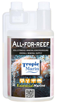 ALL-FOR-REEF is a highly concentrated solution for the supply of ALL essential minerals, including calcium, magnesium and trace elements, in new or moderately stocked reef aquariums.