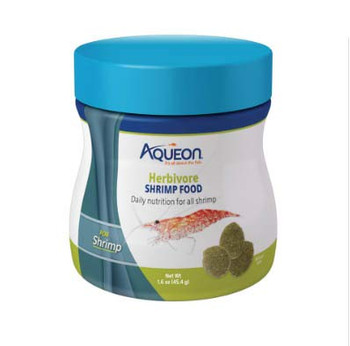 Aqueon Shrimp Discs are ideal for freshwater shrimp and crustaceans like crayfish. These sinking discs are approximately 9mm in diameter so multiple shrimp can feed at a time. Formulated with no fish meal to mimic a more natural diet and boosted with color enhancers and Bentonite Clay for exoskeletal development.