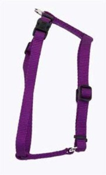 Adjustable harnesses help take some of the guess work out of properly fitting your pet. This is a fully adjustable harness that is a perfect choice for your growing dog. The harness is made from the highest quality nylon with a snap-lock Tuff buckle for the convenience of the owner.Adjustable to fit dogs 18 inches - 30 inches. Measure around dogs body behind front legs for proper sizing.