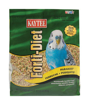 Kaytee Forti-Diet Parakeet Food - 2 lbs #100037349KAYTEE Forti-Diet contains wholesome ingredients that provide essential nutrients to ensure proper growth and appearance while enhancing the health of pets. Starting with a blend of fresh palatable seeds, grains, and pellets, Forti-Diet is fortified with the essential nutrients while offering the variety your bird or small animal enjoys.