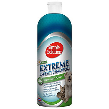 Extreme Spring Fresh Carpet Shampoo contains professional-strength cleansing agents to wipe out stains. Patented odor-neutralizing technology destroys odors. Concentrated formula makes 6.5 gallons. Deep cleans carpet, rugs, drapes and upholstery.